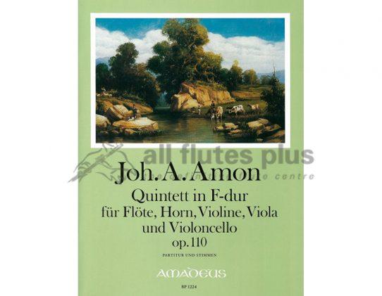 Amon Quintet in F Major Opus 110-flute horn violin viola cello