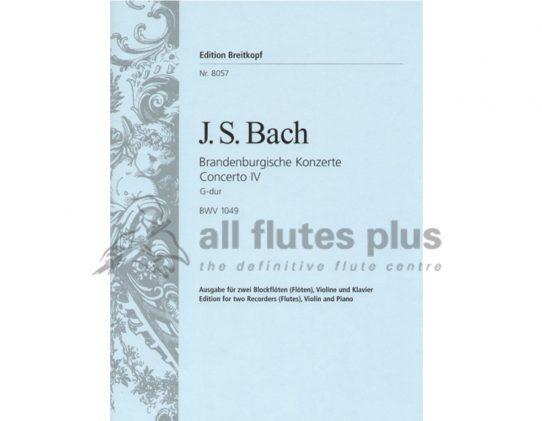 Bach Brandenburg Concerto No 4 BWV 1049-Breitkopf