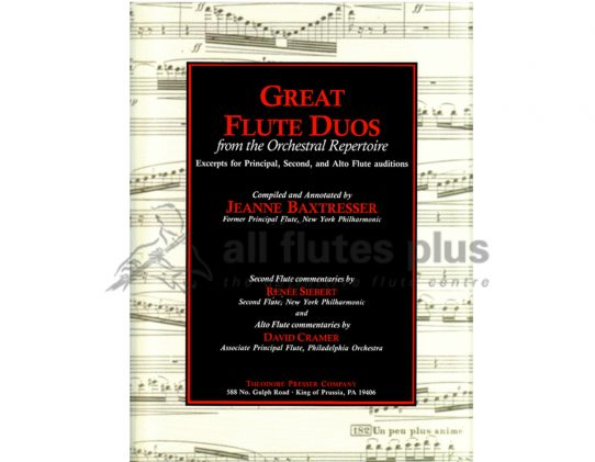 Baxtresser Great Flute Duos from the Orchestral Repertoire