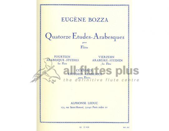 Bozza 14 Etudes Arabesques-Flute-Leduc
