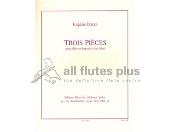 Bozza 3 Pieces-Flute and Oboe-Leduc
