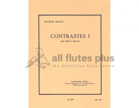 Bozza Contrastes 1-Flute and Bassoon-Leduc