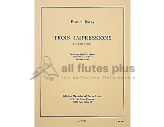 Bozza Trois Impressions-Flute and Piano-Leduc
