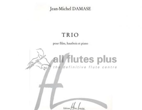 Damase Trio-Flute Oboe and Piano-Lemoine