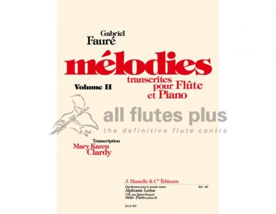 Faure Melodies Volume 2-Transcribed for Flute and Piano-Leduc