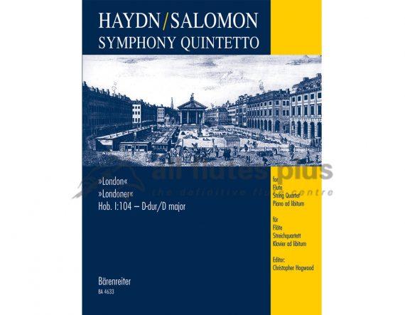 Haydn/Salomon-Symphony Quintetto London-Flute and String Quartet ad lib Piano-Barenreiter