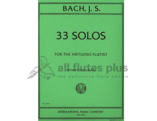 JS Bach-33 Solos for the Virtuoso Flutist-Robert Stallman-IMC