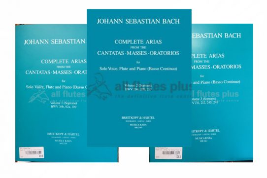 JS Bach Complete Arias from the Cantatas Masses and Oratorios for Soprano Voice-Breitkopf