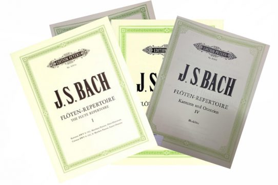 JS Bach Flute Repertoire Cantatas and Oratorios-Peters Editions