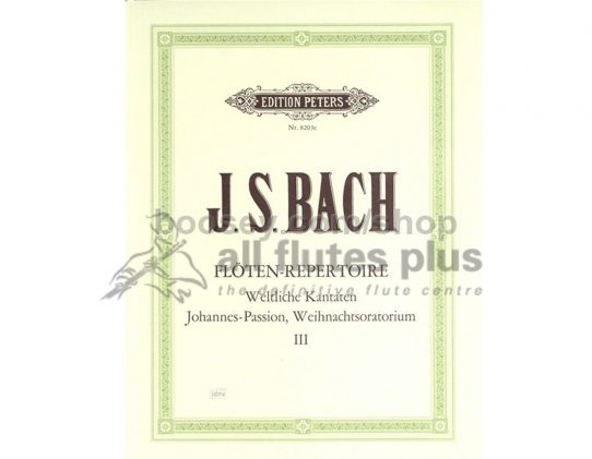 JS Bach-The Flute Repertoire Volume 3-Peters Editions