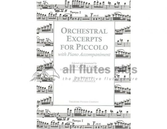 Orchestral Excerpts for Piccolo-Wellbaum-Theodore Presser