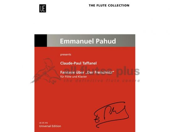 Taffanel Fantasie uber Der Freischutz-Flute and Piano-Universal Edition