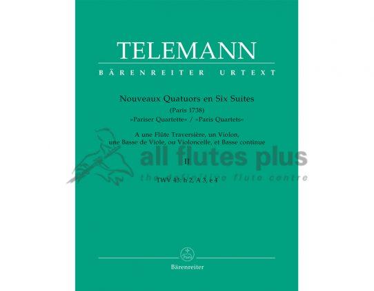 Telemann Paris Quartets Volume 2-Barenreiter Edition