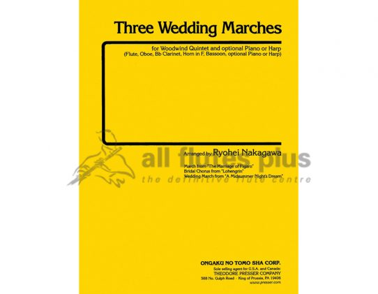 Three Wedding Marches-Wind Quintet-Theodore Presser
