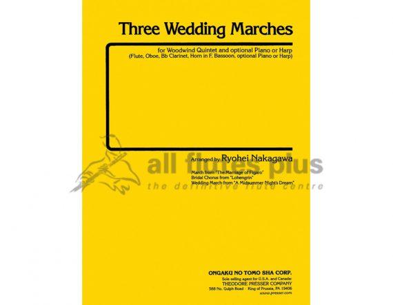 Three Wedding Marches-Wind Quintet-Theodore Presser