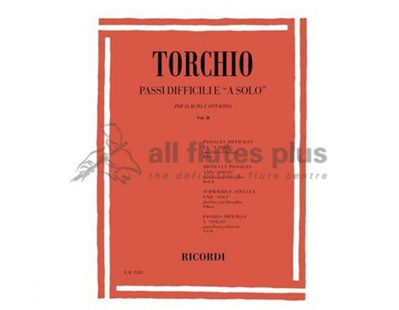 Torchio Difficult Passages for solo flute and piccolo volume 2-Ricordi