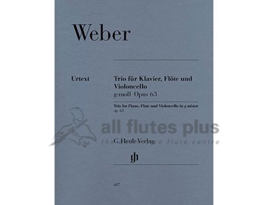 Weber Trio in G Minor Opus 63 for Flute Cello and Piano