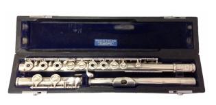 Muramatsu Inline Silver Secondhand Flute-c7596