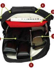 Altieri Adjustable Flute and Laptop Gig Bag