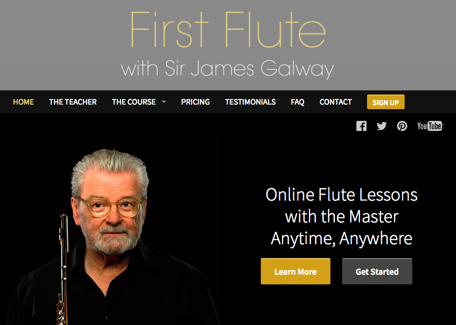 Sir James Galway First Flute Online Course