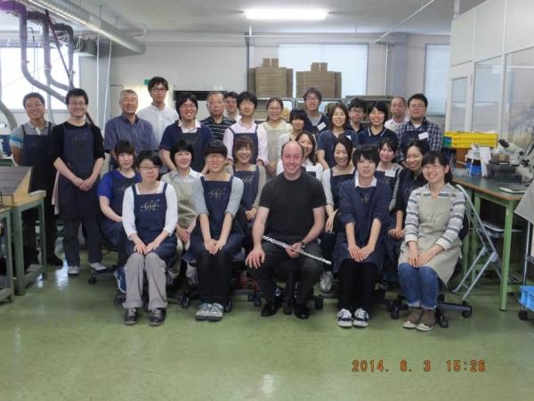 Ian at Miyazawa factory
