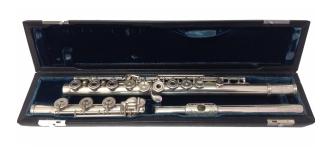 Chris McKenna Handmade Silver Secondhand Flute-c7458