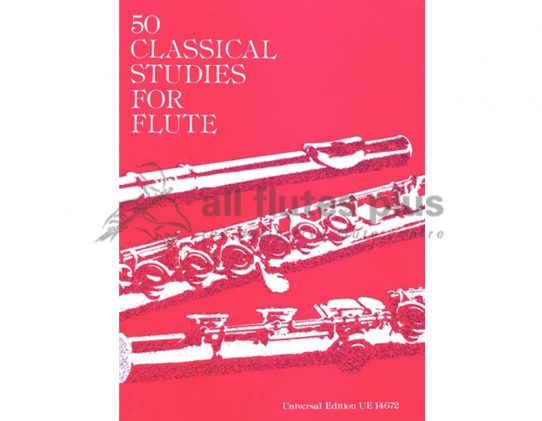 50 Classical Studies for Flute-Vester-Universal
