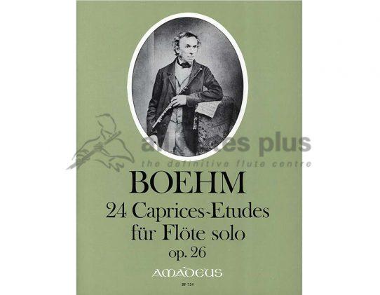 Boehm 24 Caprice-Etudes Opus 26-Solo Flute-Amadeus