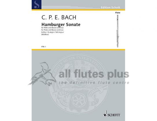 CPE Bach-Hamburger Sonata-Flute and Piano-Schott