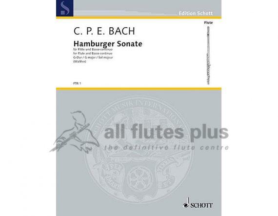 CPE Bach-Hamburger Sonata-Flute and Piano-Schott