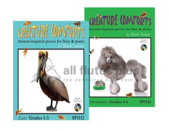 Creature Comforts-Flute and Piano Plus CD-Tanner-Spartan Press