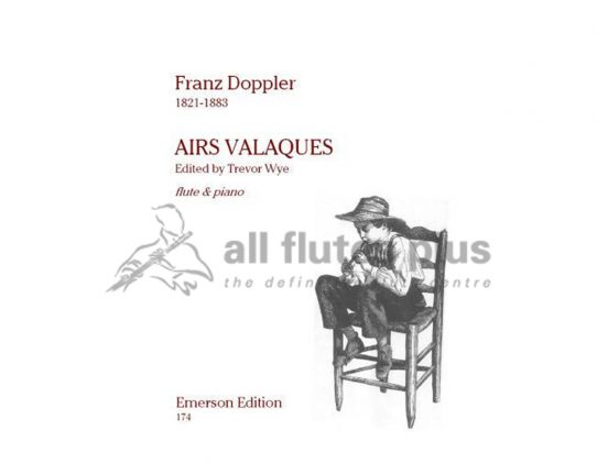 Doppler Airs Valaques-Flute and Piano-Emerson Edition