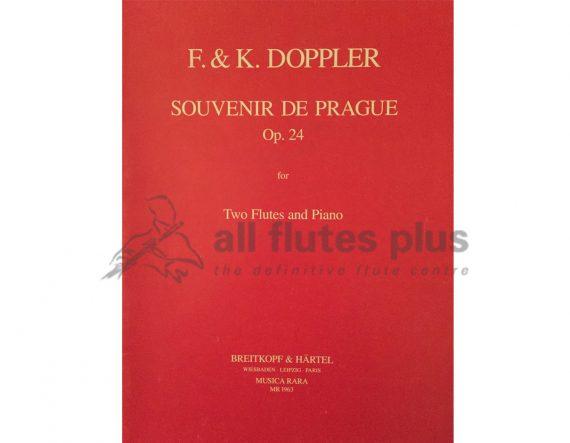 Doppler Souvenir de Prague-2 flutes and Piano-Musica Rara