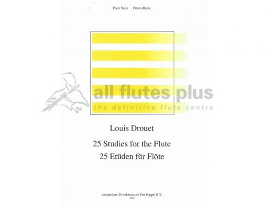 Drouet-25 Studies for Flute-Broekmans