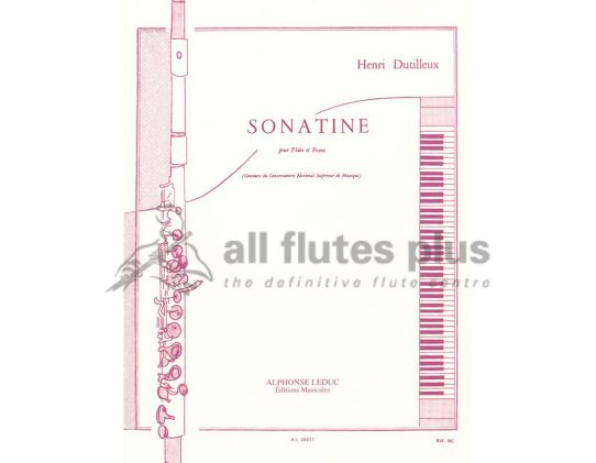 Dutilleux Sonatine-Flute and Piano-Leduc