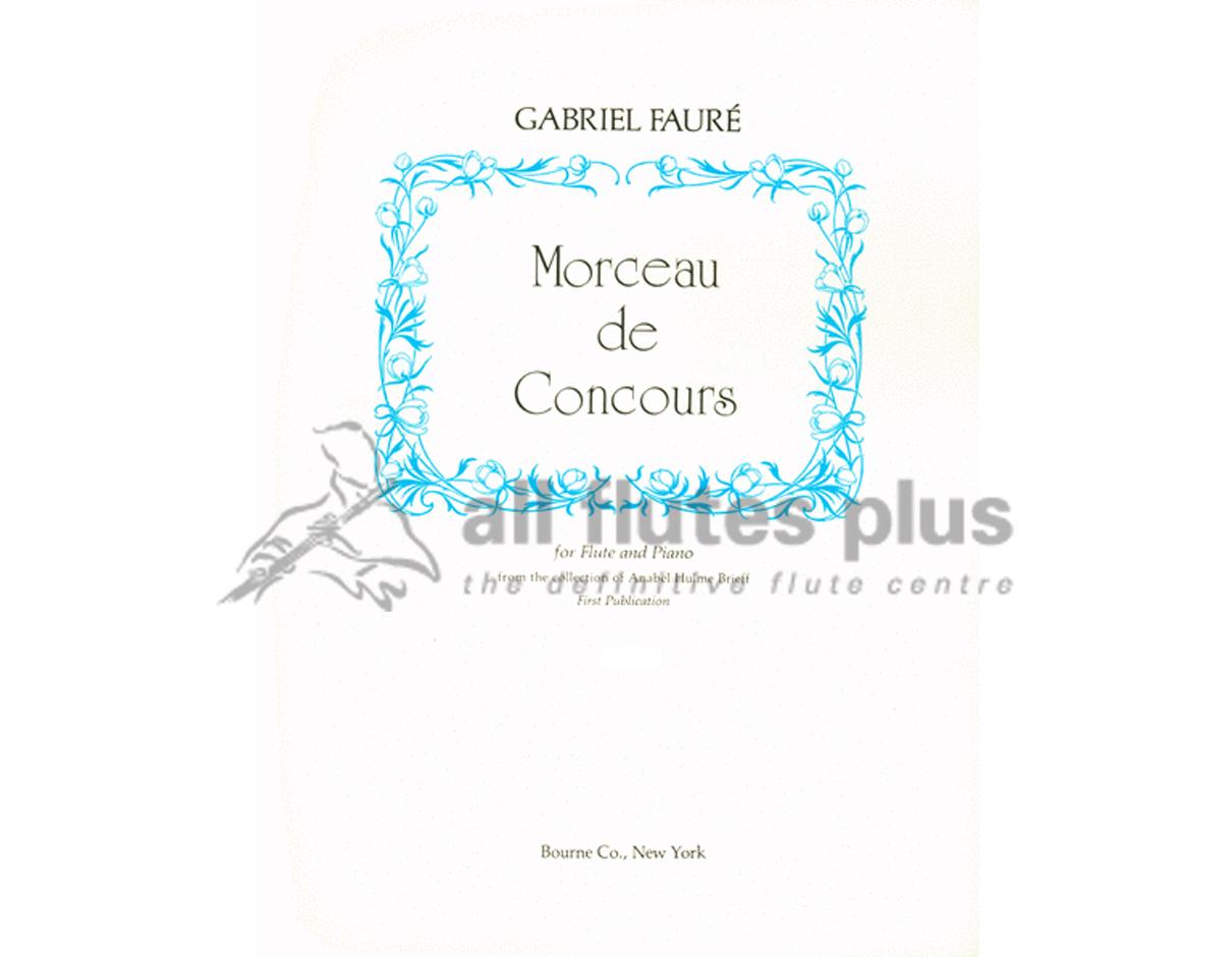 Hervorragend Morceau De Concours-Flute and Piano-Bourne EA19