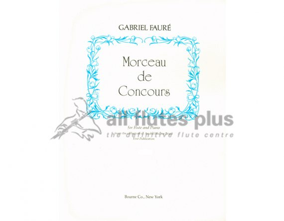 Faure Morceau De Concours-Flute and Piano-Bourne