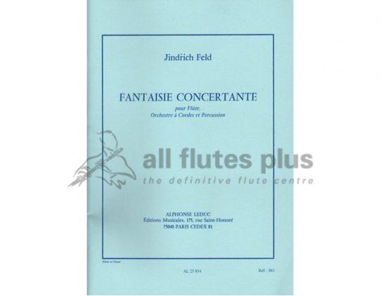 Feld Fantaisie Concertante-Flute and Piano-Leduc