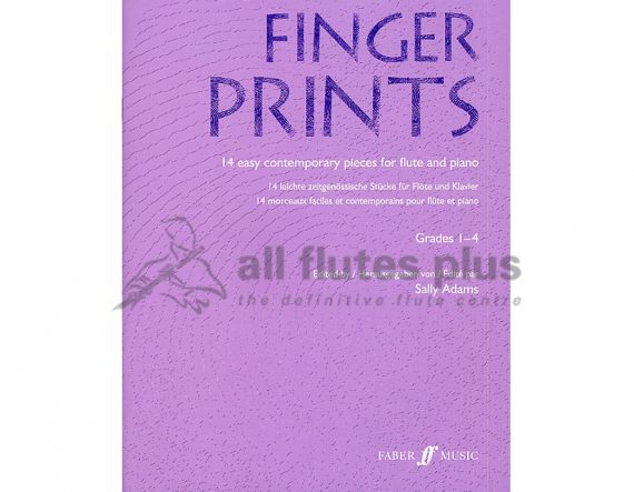 Fingerprints-14 Easy Contemporary Pieces-Flute and Piano
