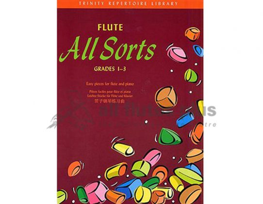 Flute All Sorts Grades 1-3-Flute and Piano-Trinity Repertoire Library
