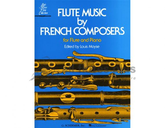 Flute Music by French Composers-Flute and Piano-Schirmer