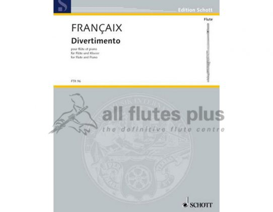 Francaix Divertimento-Flute and Piano-Schott