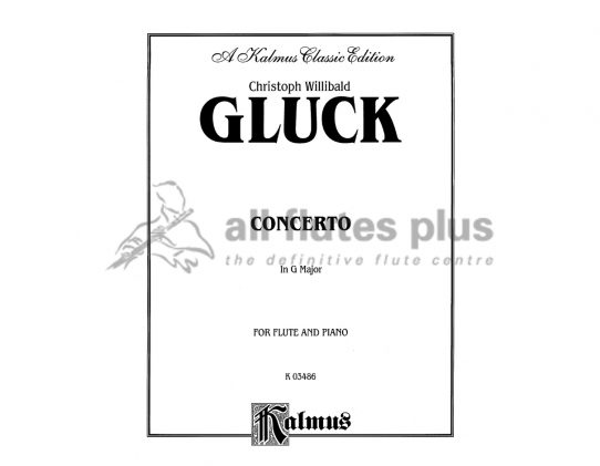 Gluck Concerto in G Major-Flute and Piano-Kalmus