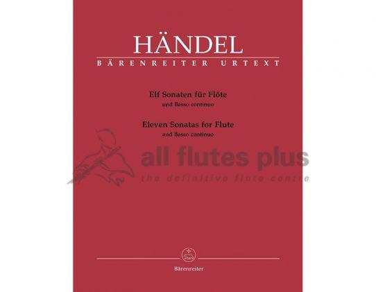 Handel-11 Sonatas-Flute and Piano-Barenreiter