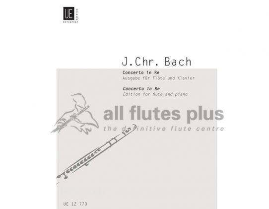 JC Bach Concerto in D Major-Flute and Piano-Universal