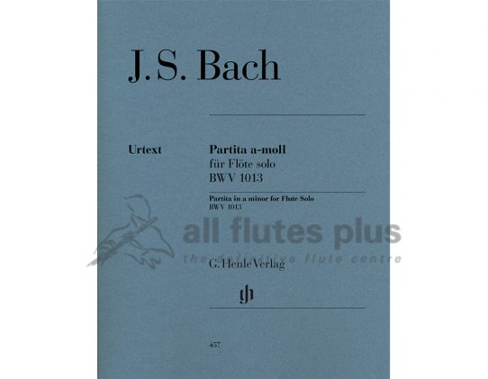 JS Bach Partita in A Minor BWV1013-Solo Flute-Henle