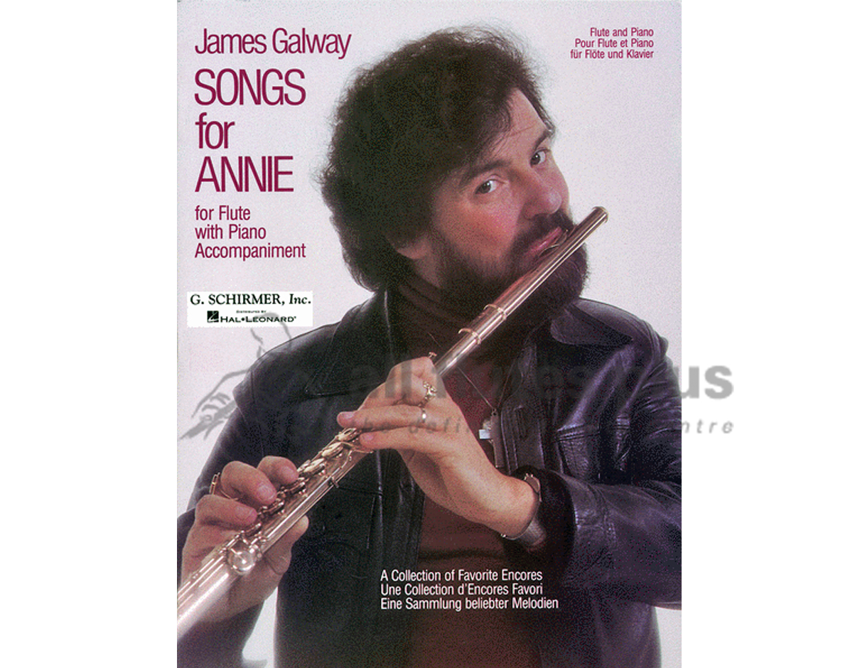 James Galway Songs for Annie-Flute and Piano-Schirmer