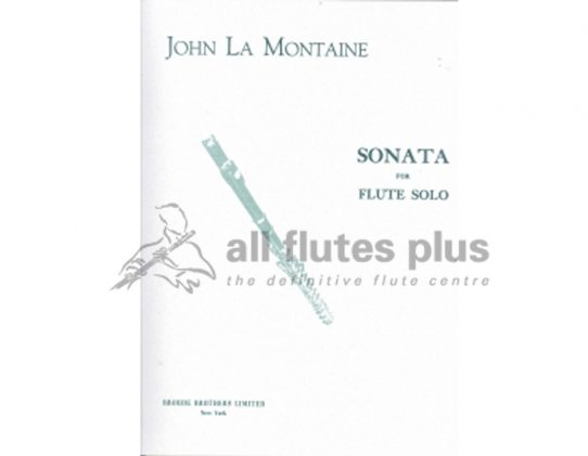 John La Montaine Sonata Opus 24-Solo Flute-Broude Brothers