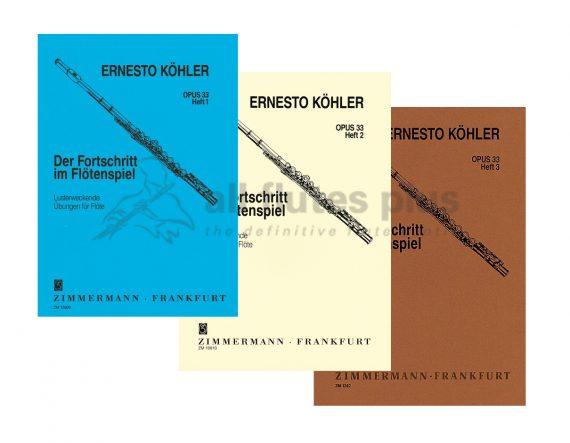 Kohler Progress in Flute Playing Opus 33-Solo Flute-Zimmermann