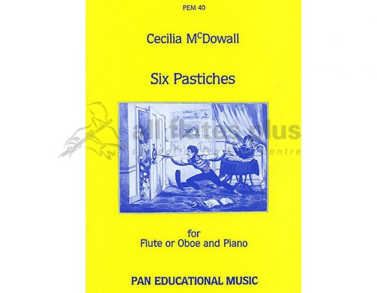 Mcdowall Six Pastiches-Flute and Piano-Pan